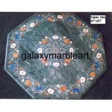 "green table top octagonal 27"" BRP-186"