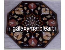 Imarti design inlay work black table top BIOC-23164