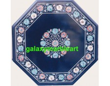 Black marble inlay table top with simple design  BPOC-23172