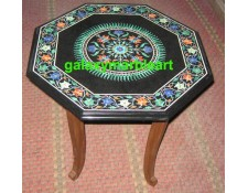 Sun flower design black table top BPOC-18134