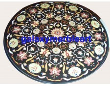 """Black dining  table top with traditional Agra Design 48"""" BIRO-48192"""