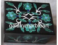 Decorative black marble inlay box-RE2