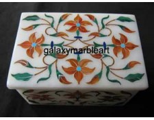 Delicate inlay work box with cornelian stone box-RE2301