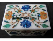 marble inlay box with rose flower design box-RE2303