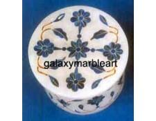 marble inlay ring box-RO2107