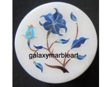 marble lapislazuli inlaid ring box-RO219