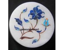 marble inlay floral design lapislazuli stone box-RO220