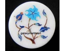mughal inlay art marble box-RO221