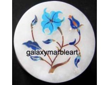 decorative marble inlay handicraft box-RO222