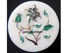 decorative stone inlaid  marble box-RO223