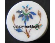 fine quality marble inlay jewelery box-RO227