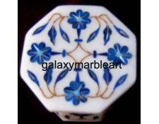 Marble inlay box with Lapislazuli stones OC217