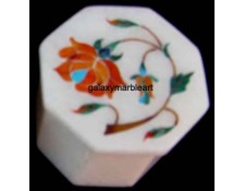 Stones inlaid marble trinket box OC218