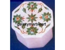 Taj Mahal inlay work marble box OC283