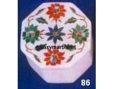 Marble inlay ring box OC286