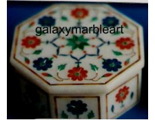 High quality lapis Coral marble box OC3539