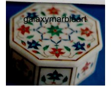 intricate marble inlay box-OC3540