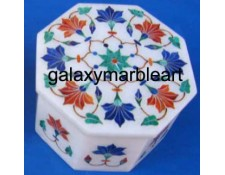 Delicately done marble inlay box  OC3114