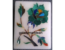Agra marble inlay work box-RE22501