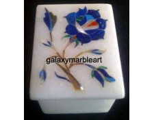 Marble Box with Stone Inlay Work - Galaxy Marble Art,box-RE22504