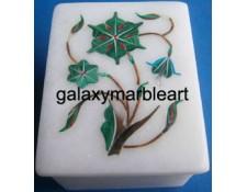 taj mahal inlay art marble box-RE22508