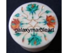 pachchikari inlay work marble box-RO2579