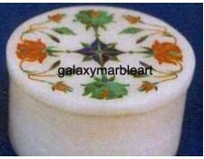 Handmade pietra dura inlay work box-RO380