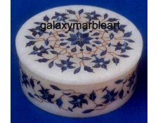 marble inlay agra art box-RO453