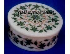 Pietra dura marble inlay box-RO454