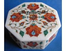 white marble inlay box-OC504