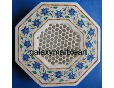 agra marble inlay work box-OC602