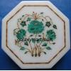 Decorative stone inlaid makrana marble box-OC605