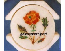 "Handcrafted marble inlay coaster set 3"" Cs-4"