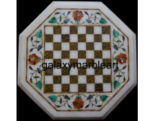 "marble chessboard with inlay work 12"" Chess-1207"
