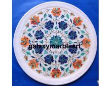 Lapislazuli Cornelian combination marble inlay plate Pl-1102