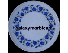 Marble inlay marquetry work plate Pl-1104