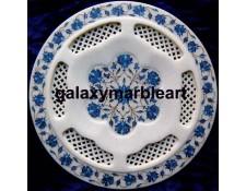 Flgree work stones inlaid plate Pl-1106