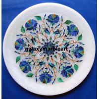 Delicate stones inlay work plate Pl-603