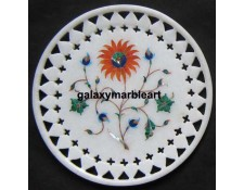Wall decor marble inlay plate with  filgree work  Pl-610