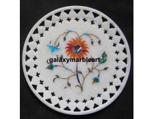 Home decor marble inlay plate with  filgree work Pl-611