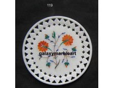 Marble inlay plate  for wall decoration with  filgree work Pl-612