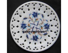 Marble inlay wall plate  with  jali work Pl-615