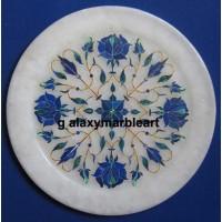Geometrical design lapis inlaid plate Pl-616
