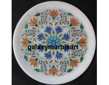 Top Quality stones inlaid marble plate Pl-806
