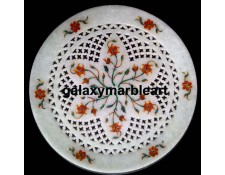 Marble inlay work with Lattice plate Pl-813