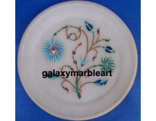stones inlaid marble plate Pl-502