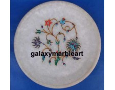 Marble inlay intricate workmanship plate Pl-504