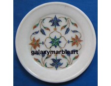 marble inlay geometrical design plate  Pl-508