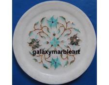 Pietra dura marble plate Pl-509