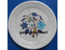 Home decor marble inlay plate Pl-514
